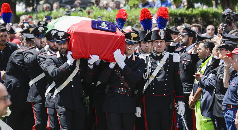 Funeral of Carabinieri's officer Mario Cerciello Rega
