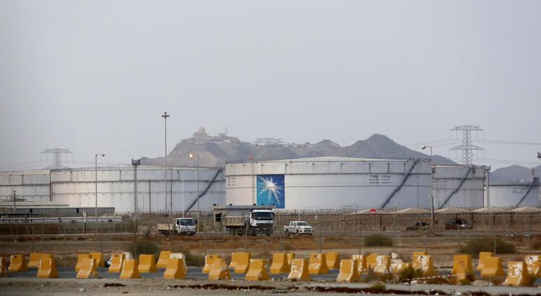 Storage tanks at North Jiddah Aramco oil facility