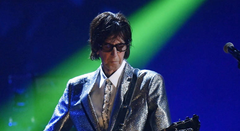 Ric Ocasek, from the Cars, performs during the Rock and Roll Hall of Fame Induction ceremony in Cleveland in 2018.