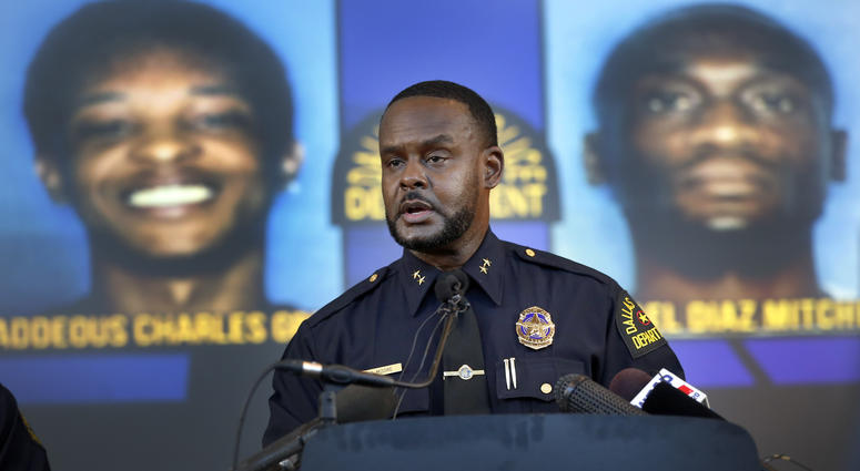 Dallas Assistant Chief of Police Avery Moore addresses the media about a drug deal gone bad resulting in the death of Joshua Brown.