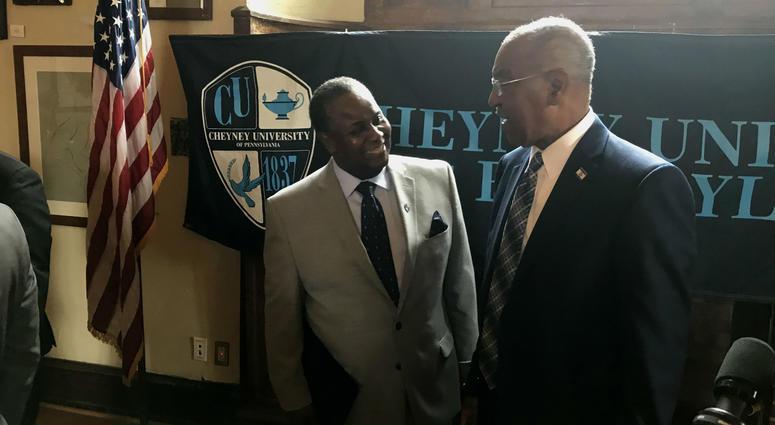 Left: Cheyney University President Aaron A. Walton
