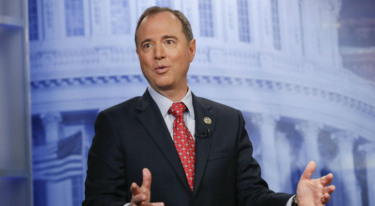 In this Nov. 7, 2017 file photo, Rep. Adam Schiff, D-Calf., answers questions during an interview at the Associated Press bureau in Washington.