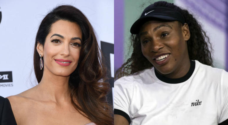 Amal Clooney and Serena Williams