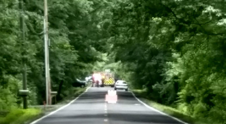 a small plane crashed in Burlington County, New Jersey