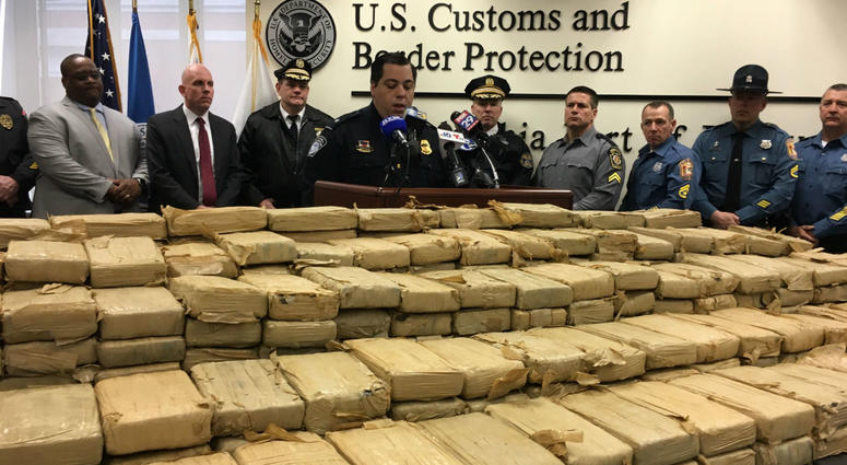 1,200 pounds of cocaine was seized at the Port of Philadelphia, valued at $38 million.