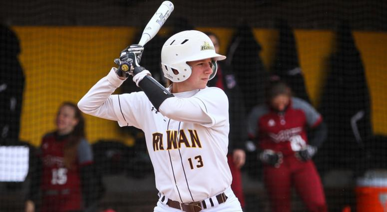 Rowan junior shortstop Carly Anderson leads the Profs this season with a .486 batting average.