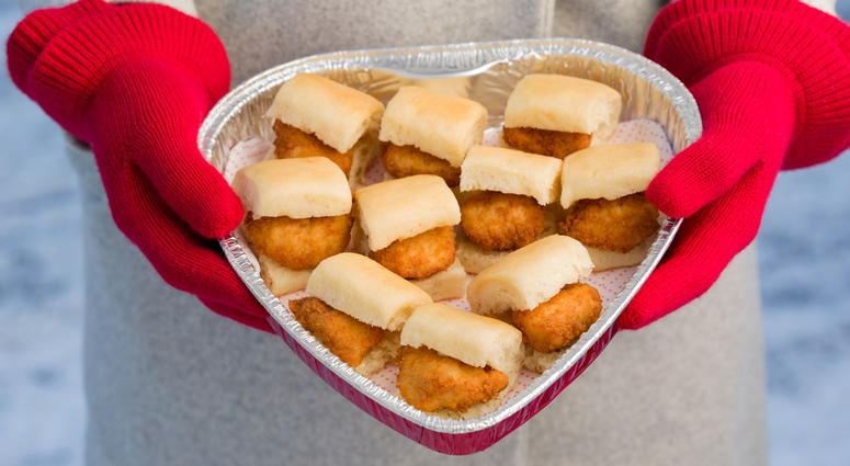 This Valentine's Day, Chick-fil-A is serving up heart-shaped trays of chicken nuggets and Chick-n-Minis.