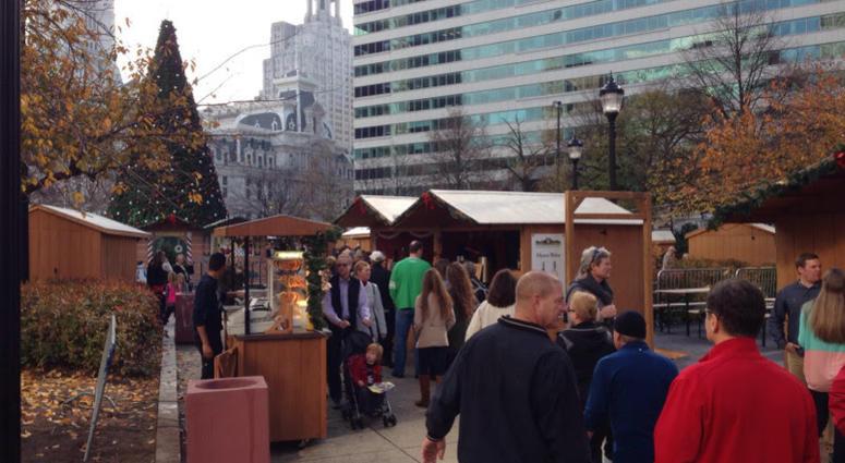 Christmas Village in LOVE Park