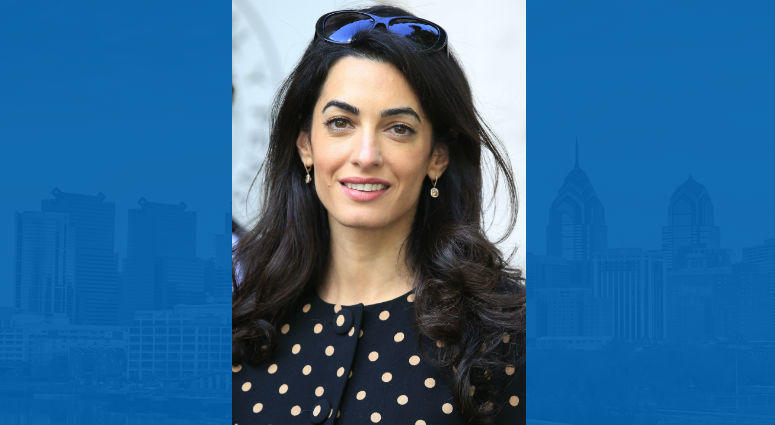 3/29/2018 - File photo dated 22/6/2015 of human rights lawyer Amal Clooney who will represent two journalists detained in Burma.