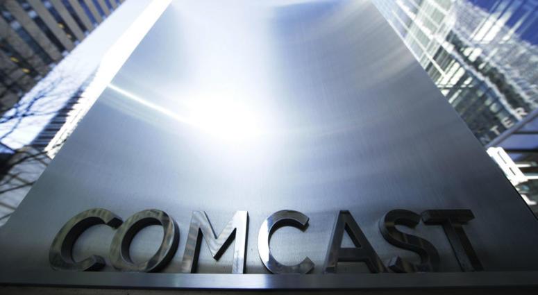 sign outside the Comcast Center in Philadelphia