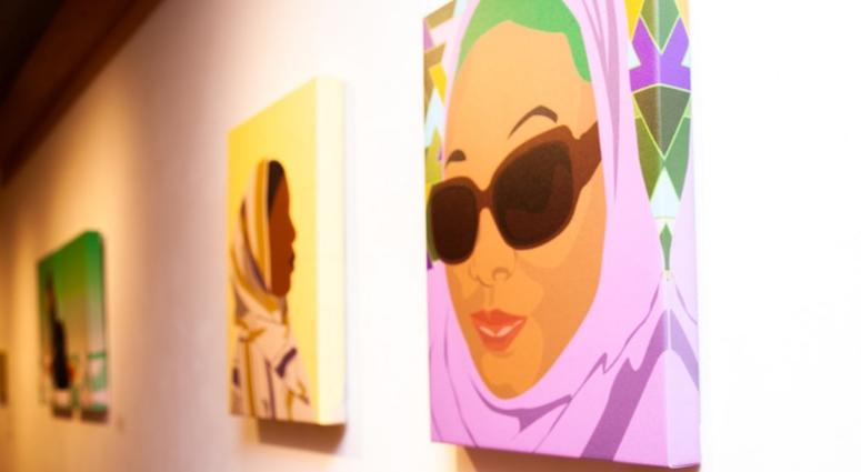 "Titled ""Covered,"" Yusef Abdule Jaleel's exhibition features rotoscope digital illustrations in vibrant colors, depicting Muslim women of color in striking, powerful poses and in modest fashion."