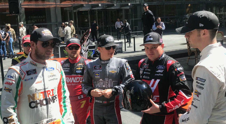NASCAR took to the streets of Philadelphia Wednesday and fans couldn't have been happier.