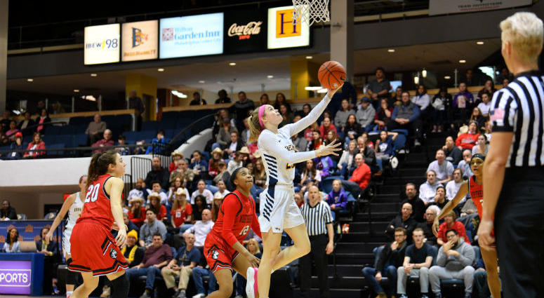 Drexel junior forward Bailey Greenberg leads the team in scoring and rebounding.