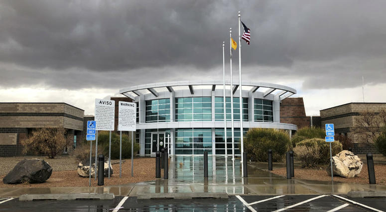 This March 12, 2019, photo shows the Metropolitan Detention Center of Bernalillo County outside of Albuquerque, N.M.