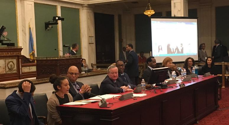 The Philadelphia School Board sat down with the mayor and city council on Tuesday to discuss progress since it began running the district five months ago.