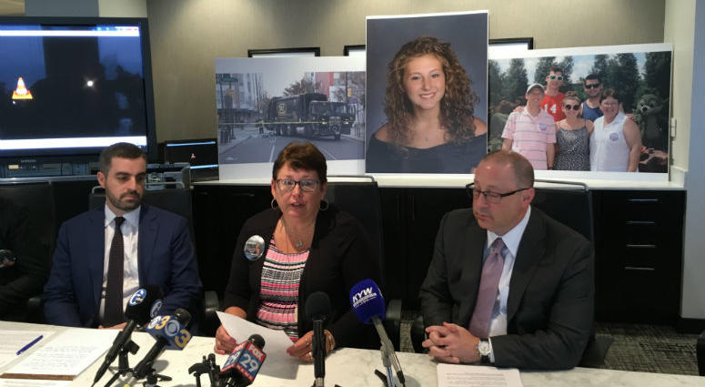 Emily's parents, Richard and Laura Fredricks, along with their attorney, speak on the $6 million settlement they reached with Gold Medal Environmental. They plan to use the money to fund the Emily Fredricks Foundation.