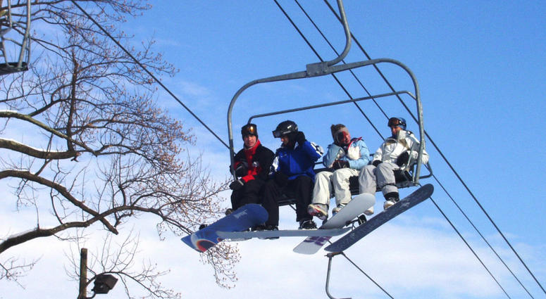 Friend time in the ski lift