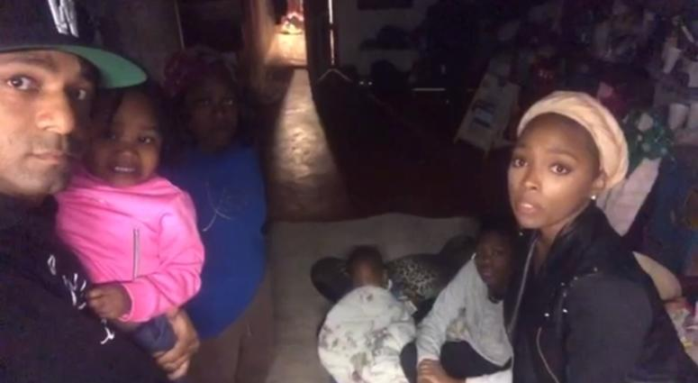 Screenshot of a video posted on Instagram under the account, Wallo267, that tells the story of Dominique Wise and her children, 2 of whom were shot.