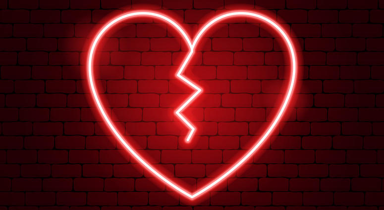 A broken heart.