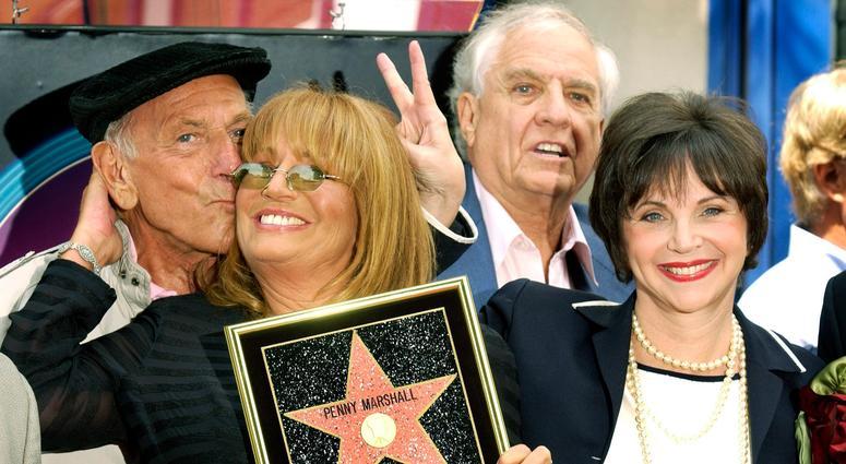 Jack Klugman, Penny Marshall and Cindy Williams