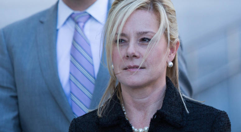 NEWARK, NJ - MARCH 29: Bridget Anne Kelly, former deputy chief of staff to New Jersey Gov. Chris Christie, exits the Martin Luther King, Jr. Federal Courthouse following her sentencing on March 29, 2017 in Newark, New Jersey.