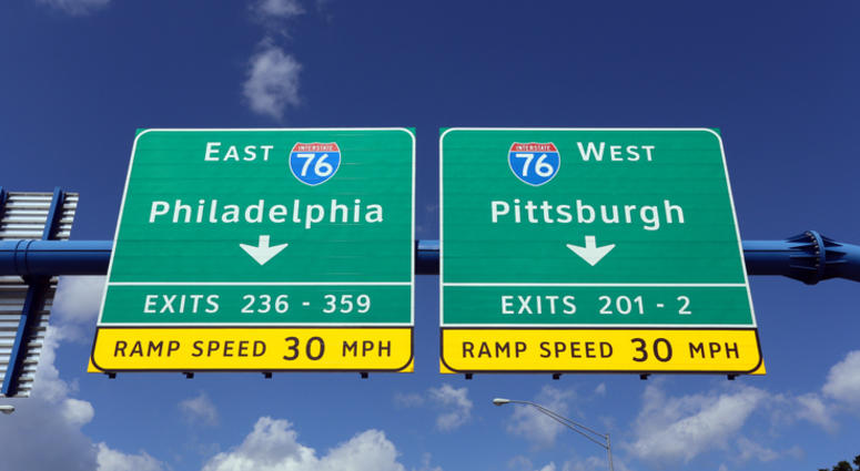 Highway signs.