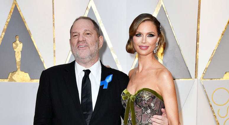Harvey Weinstein and estranged wife Georgina Chapman