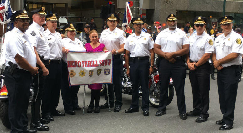 Organizers of the 64th annual Hero Thrill Show held a pep rally in Center City Wednesday to whip up some exciting for the upcoming event.