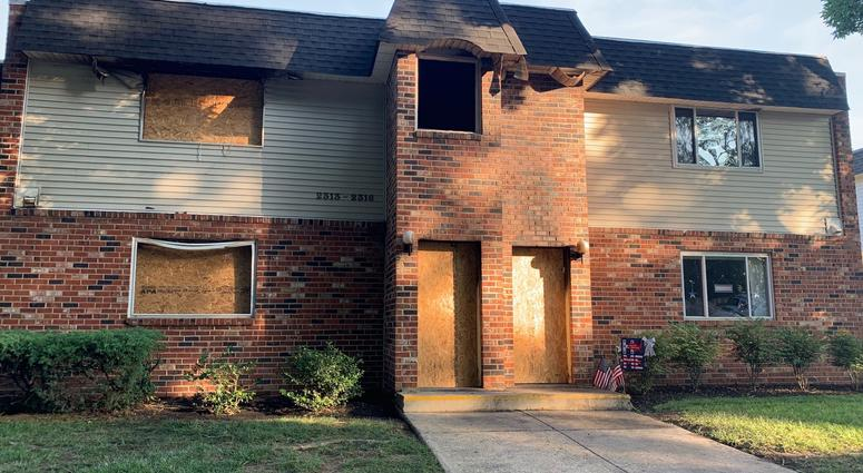 Fire rips through a section of the Ryan's Run East Apartments in Maple Shade overnight.