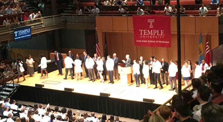 Annual white coat ceremonies mark first step for new class of