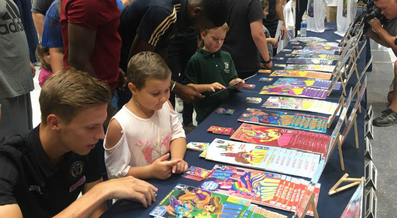 For Childhood Cancer Awareness Month during September, the Philadelphia Union unveiled their awareness campaign for 2018: turn some pediatric cancer patients into superheroes. Local artists were commissioned to help turn the young patients' ideas into rea