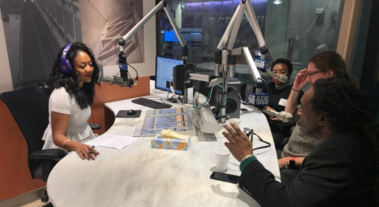 KYW Newsradio's community affairs reporter Cherri Gregg interviews representatives from The Center for Returning Citizens on its latest portrait project.