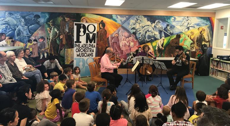 The Bala Cynwyd library hosted a string quartet from the Philadelphia Orchestra.