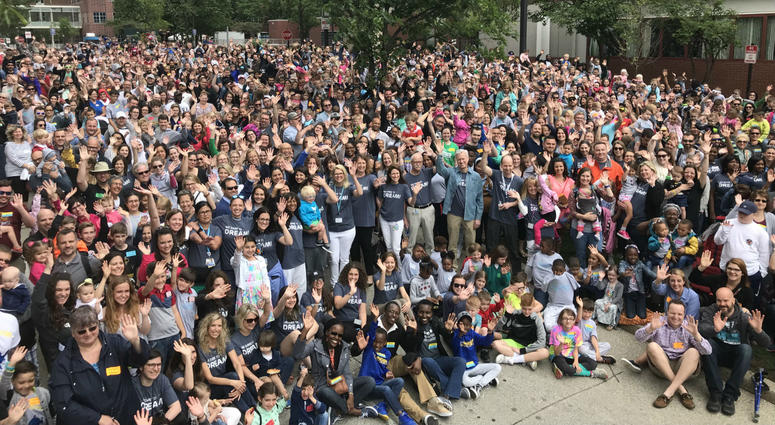 More than 2,000 people from all over the country — former patients and members of surgical teams — celebrated the 22nd annual Fetal Family Reunion at CHOP's University City campus Sunday.