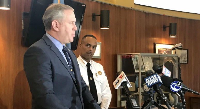 Homicide Capt. Jack Ryan speaks about an arrest in connection with a triple murder that took place in Tioga over the weekend.