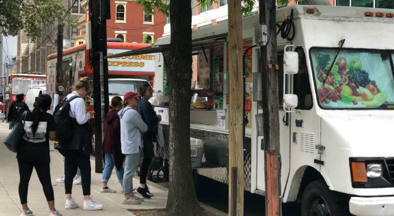 The city sent Temple University food truck vendors about leaving their trucks overnight.