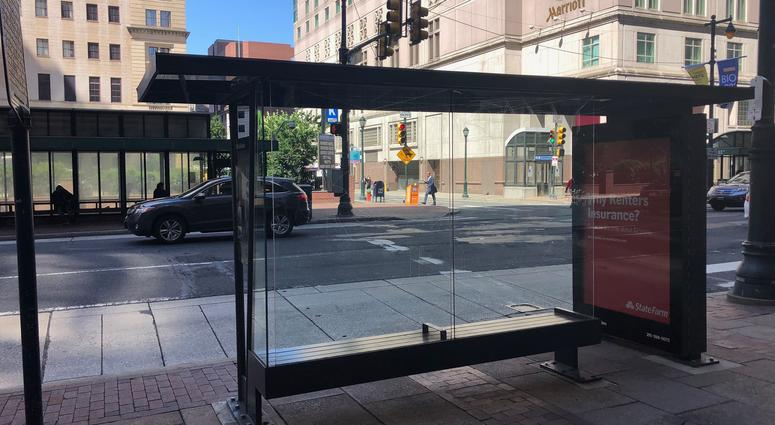 No smoking now at bus shelters in Philadelphia.
