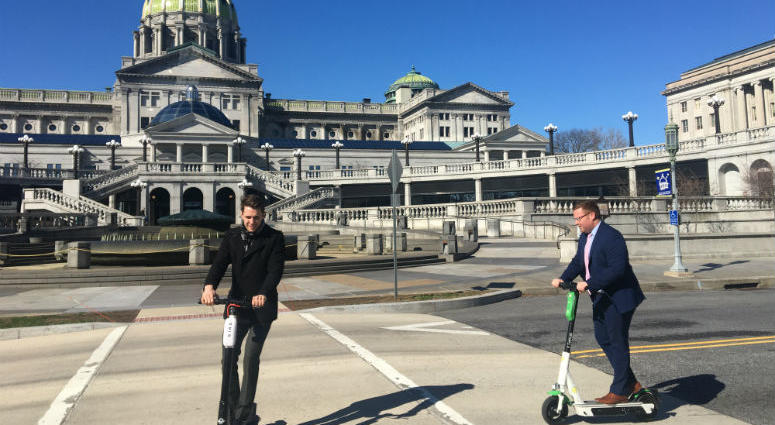 The scooters don't move too fast and apparently, neither will the bill that would OK their use.