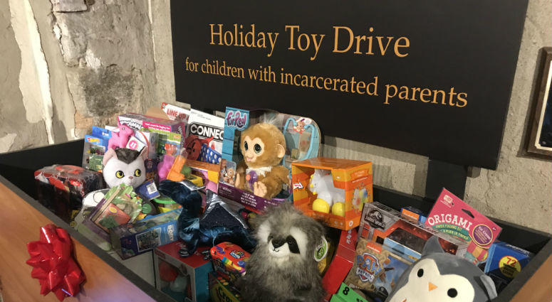 A toy drive for area kids with incarcerated parents is being held for a sixth year at a Philadelphia historic site that used to be a prison.