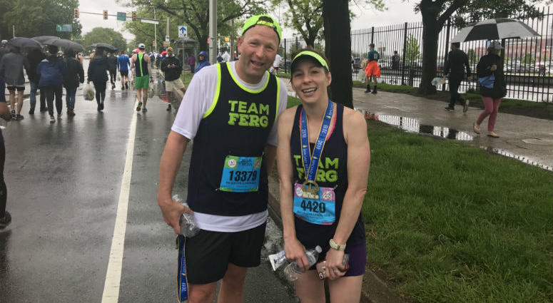 John and Karen Gibble at the Broad Street Run.