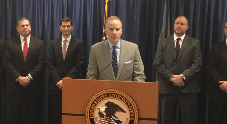 U.S. Attorney Bill McSwain alleges 14 people unlawfully prescribed oxycodone.