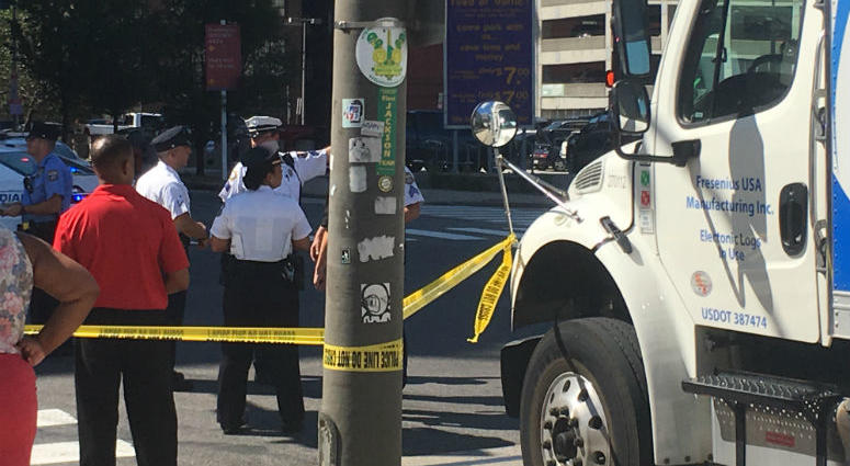 Woman and baby hit by truck in Center City | KYW