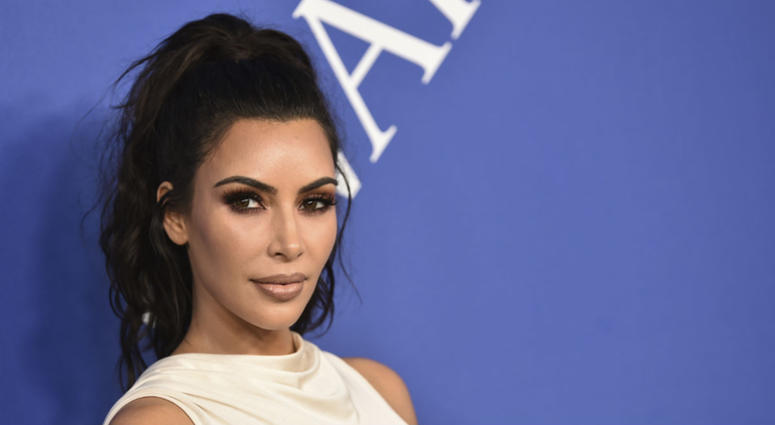 In this June 4, 2018 file photo, Kim Kardashian West arrives at the CFDA Fashion Awards at the Brooklyn Museum in New York.