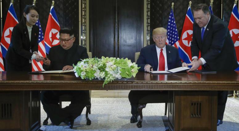 North Korea leader Kim Jong Un and U.S. President Donald Trump