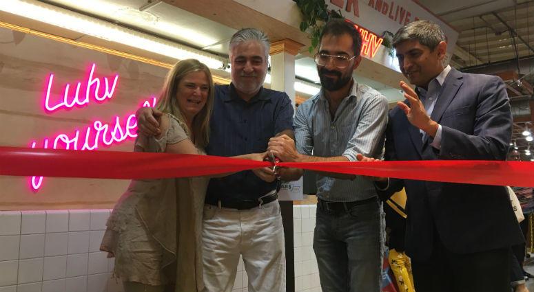 Reading Terminal held a ribbon-cutting ceremony Thursday for its new vendor, Luhv Vegan Deli.