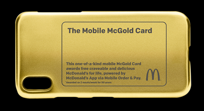 McDonald's sweepstakes offers a McGold Card and a lifetime of free