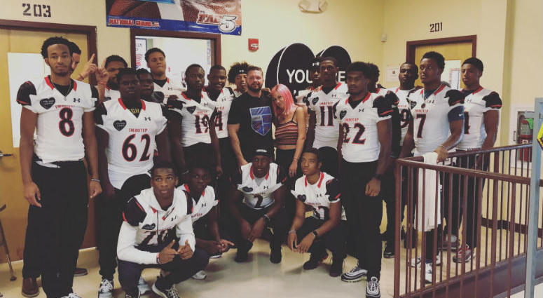 Imhotep Institute Charter football team