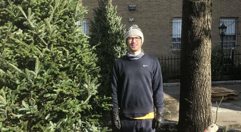 Ryan Brocker with The Christmas Tree Stand