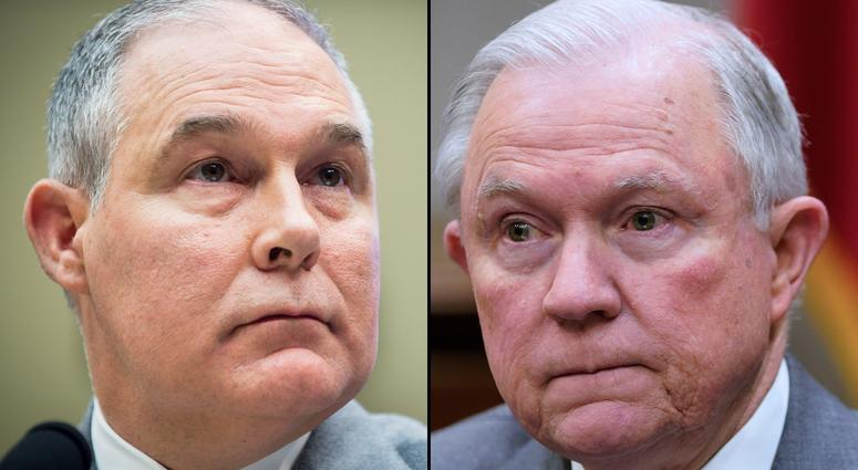 Scott Pruitt and Jeff Sessions