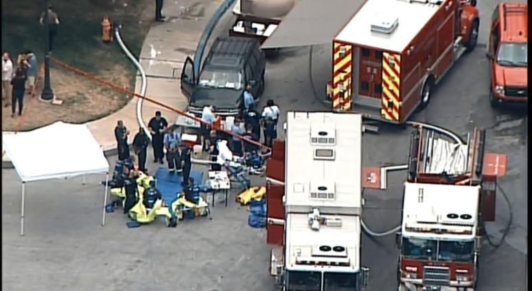 Fire crews responded to a hazmat situation at Johns Hopkins Hospital after possible tuberculosis exposure.